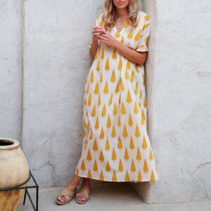 KOS_Kaftan_Dress_GoldLeafDrop_1